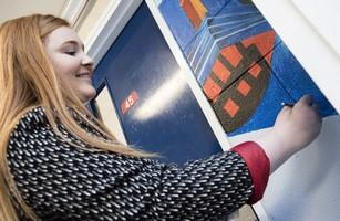Artist Leaves Her Mark On School