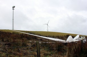 Turbine blades spin off in Storm Barbara